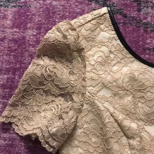 Abs two tone lace dress